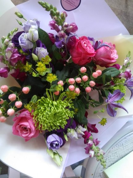 Hand-tied flowers