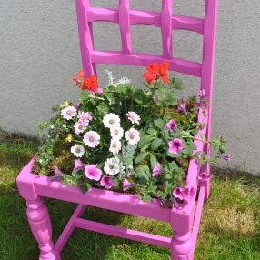 Pink Plant Chair