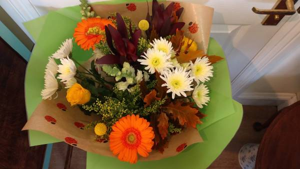 Autumnal hand-tied