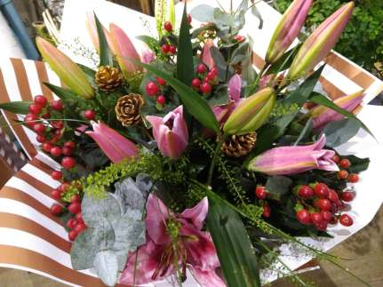 Christmas Lily Hand-tied