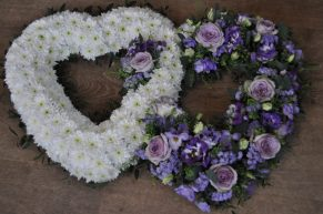 Funeral double heart