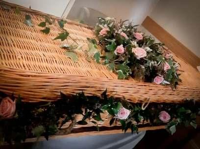 Wicker Coffin Garland