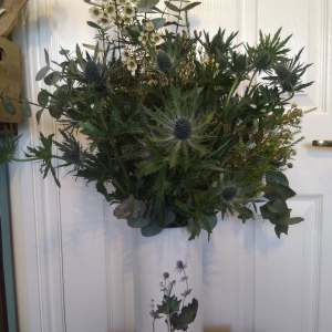 Eryngium Thistle - Eucalyptus Vase