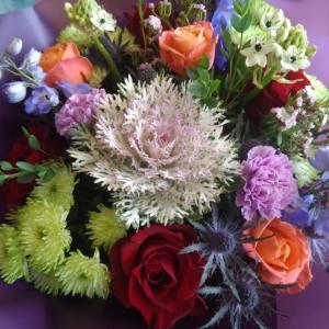 Autumnal bouquet, florist choice seasonal bouquet