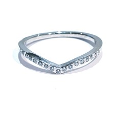 9dbec3a4f Alliance 17 briljants 0.09 ct TW W VVS VS 18k white gold ring
