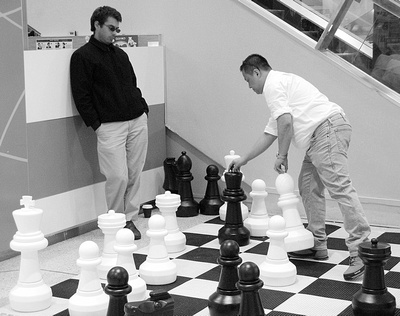Black Takes White chess street photography