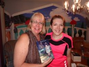 Last minute book was signed after Mandi went on a run and someone recognized her and asked for a book!