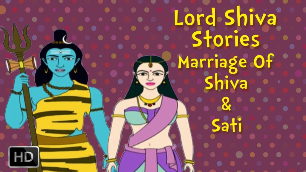 Lord Shiva and Sati Stories for Children - Marriage Of