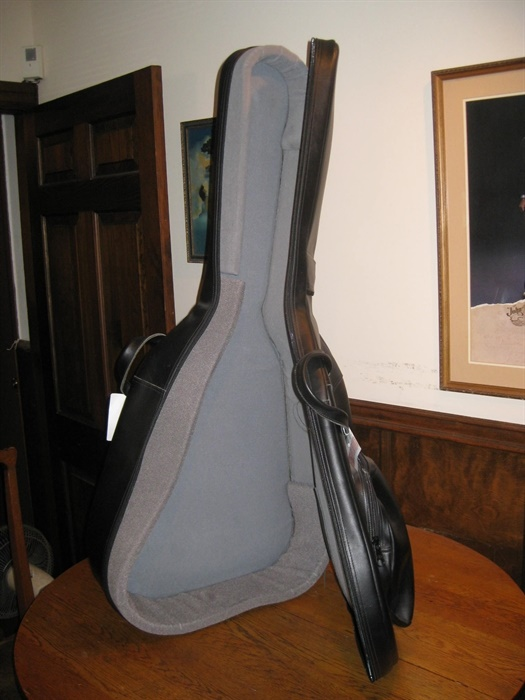 Reunion Blues Leather Archtop Gigbag  Mandolin Brothers Ltd