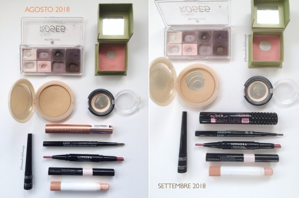 smaltimento makeup settembre