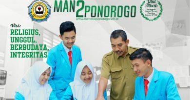 Informasi PPDB MAN 2 Ponorogo 2018/2019 (Gel 1)
