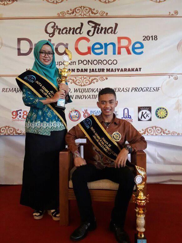 Siswi MAN 2 Ponorogo, Juara 3 Duta Genre 2018 Kab. Ponorogo