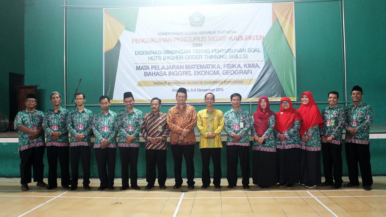 Pengukuhan Pengurus MGMP Kabupaten Ponorogo