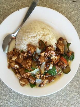Tofu and black bean sauce