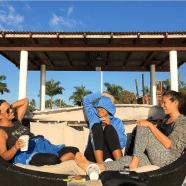 The Malolo coaching team working hard! - Vila, Pou and I (Pic thanks to Calina Panuve)