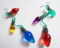 tacky christmas earrings