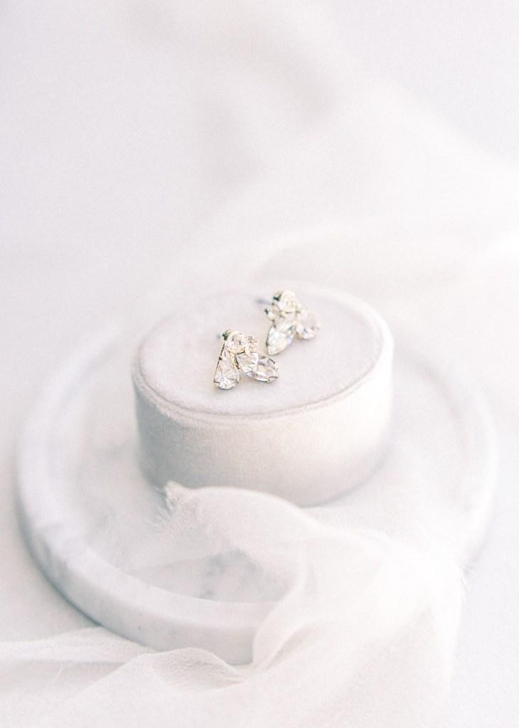 BHLDN Earrings For Wedding | Mandy Ford Photography