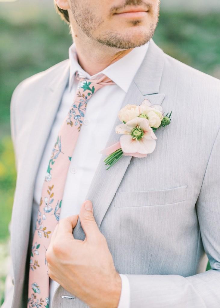 Summer Groom Style Light Gray Suit