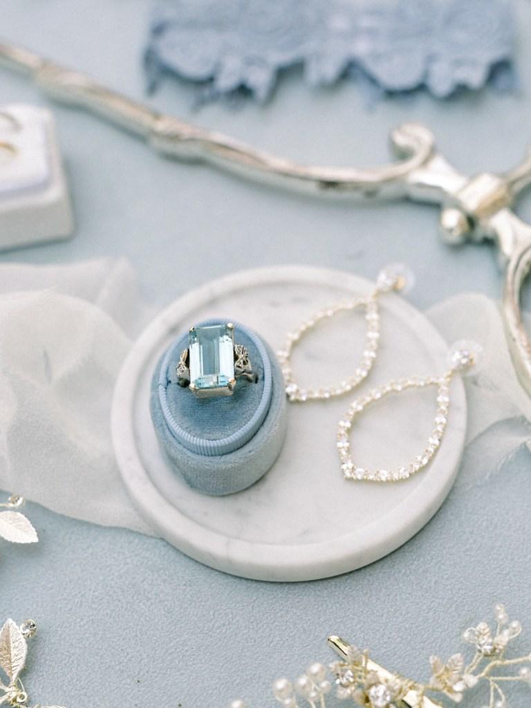 Dusty Blue Dove Gray Wedding Details | Carmel Valley Monterey Wedding Venue
