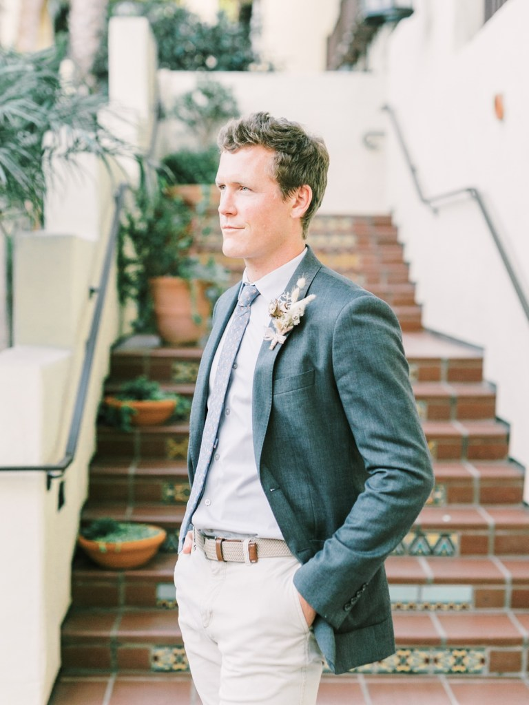 Groom At Estancia La Jolla Wedding Venue In San Diego