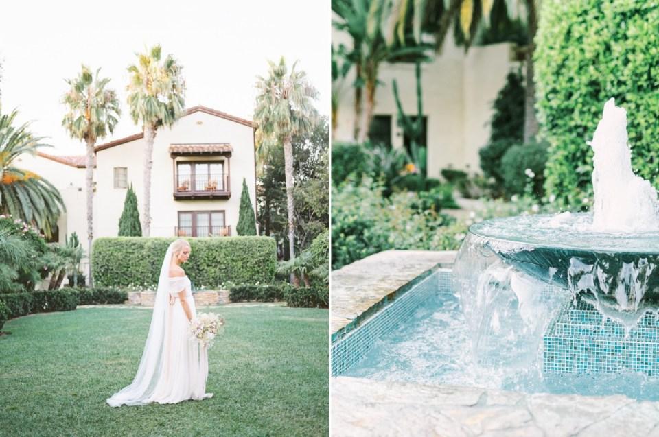 Garden Courtyard Ceremony At Estancia La Jolla Wedding Venue In San Diego