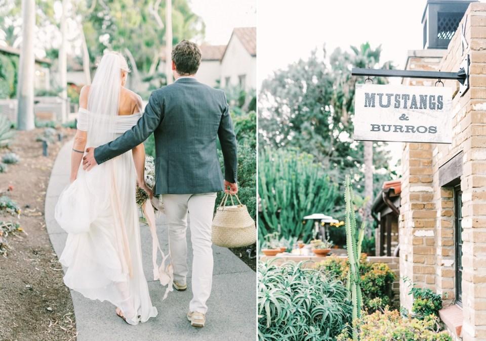 Bride and Groom At Estancia La Jolla Wedding Venue In San Diego