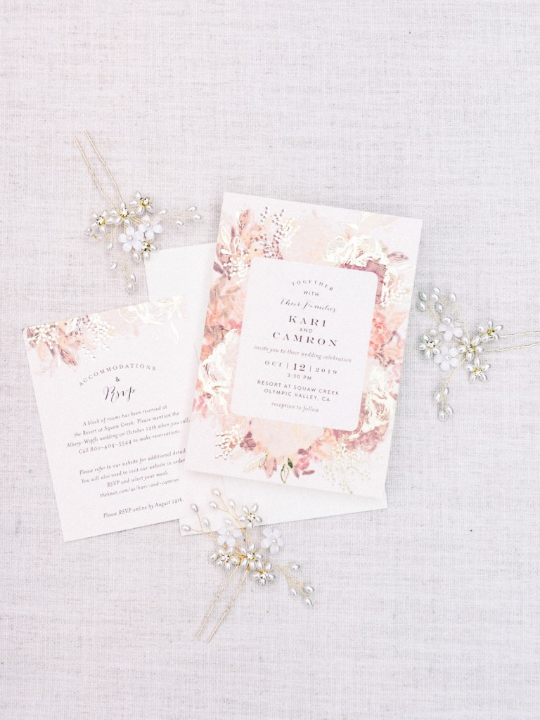 Stationary from a Resort At Squaw Creek Wedding
