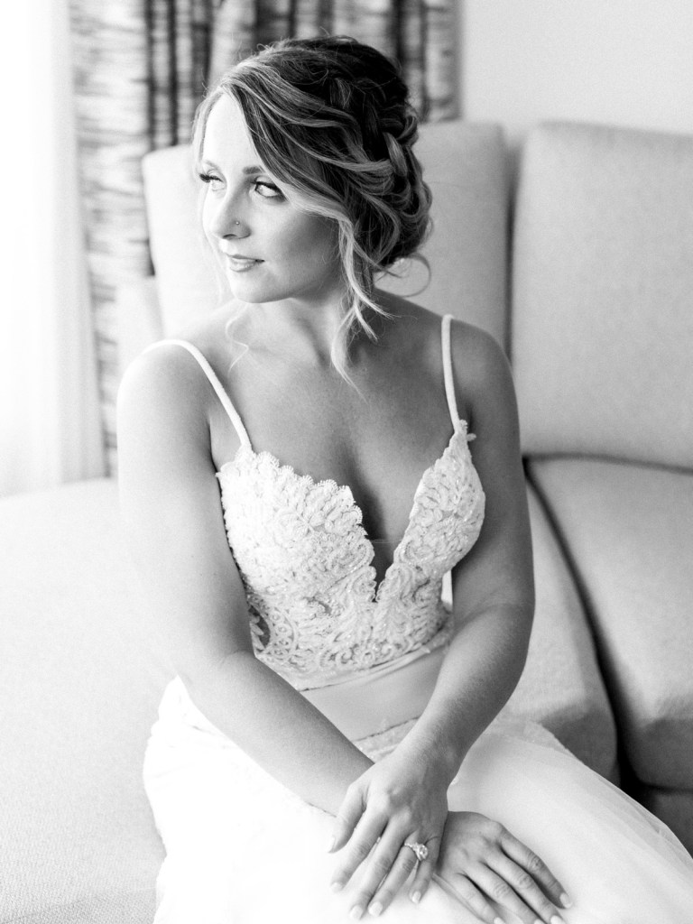 Bride before her Resort At Squaw Creek wedding ceremony