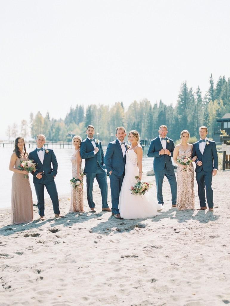 Wedding Party at Lake Tahoe Wedding Venue