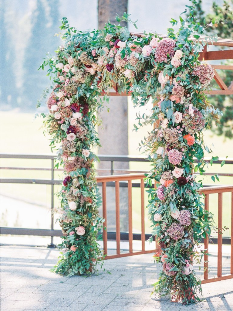 Rose-Filled Ceremony At The Resort At Squaw Creek Wedding Spa Deck