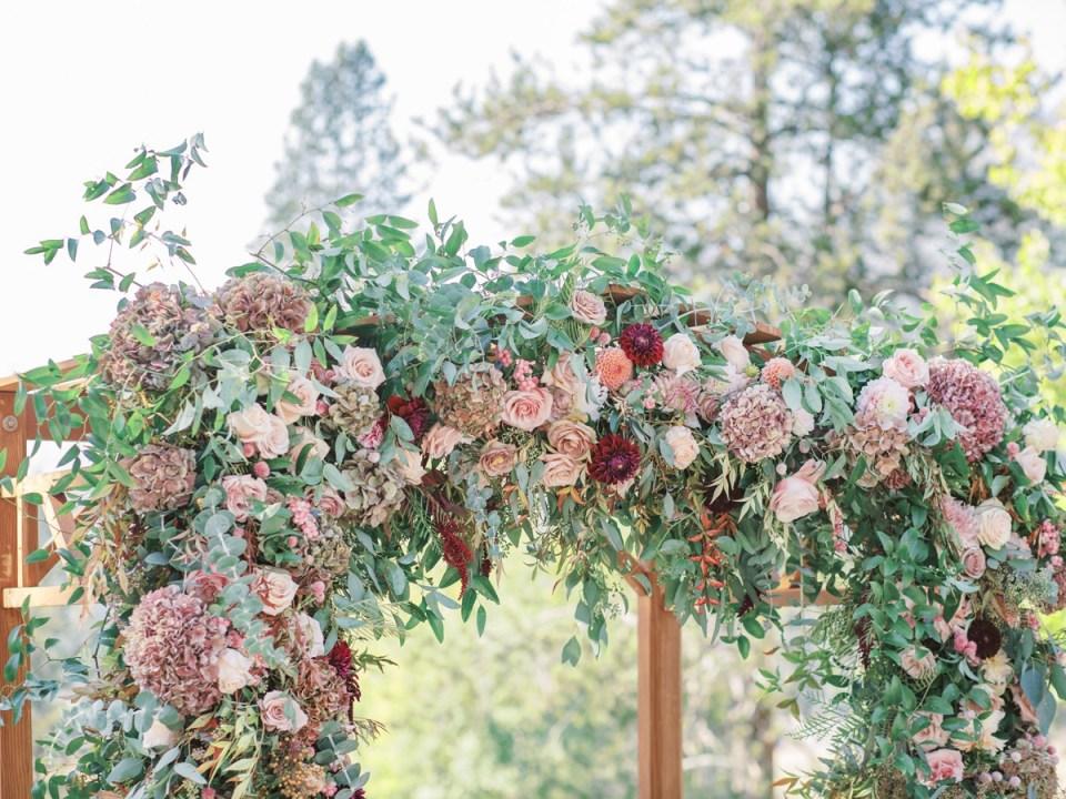 Dusty Rose Wedding Inspiration by Lake Tahoe Wedding Photographer