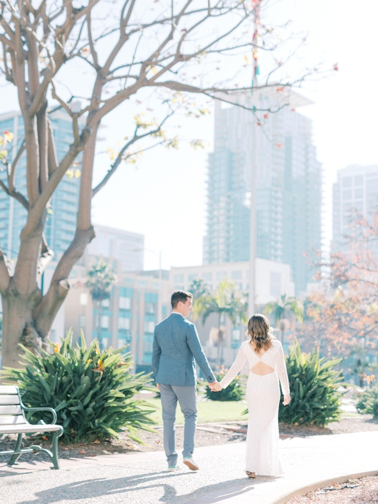 San Diego Courthouse Wedding In Downtown San Diego Bay By Film Photographer, Mandy Ford.