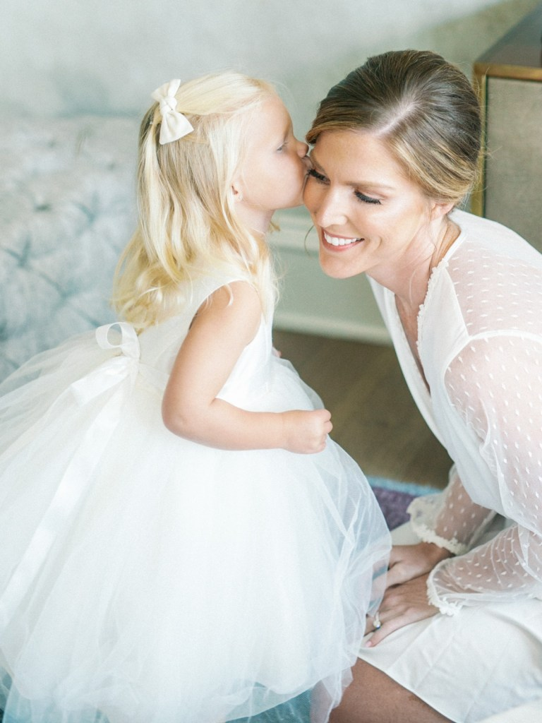 Bride and Flower Girl Inspiration Photos Shot On Film By Baltimore Wedding Photographer, Mandy Ford