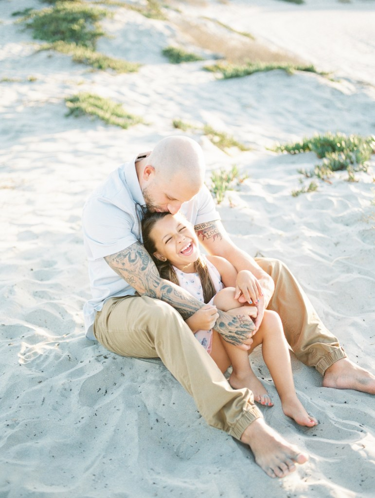Father and daughter Coronado family photos | light and airy Coronado family session shot on film by Mandy Ford