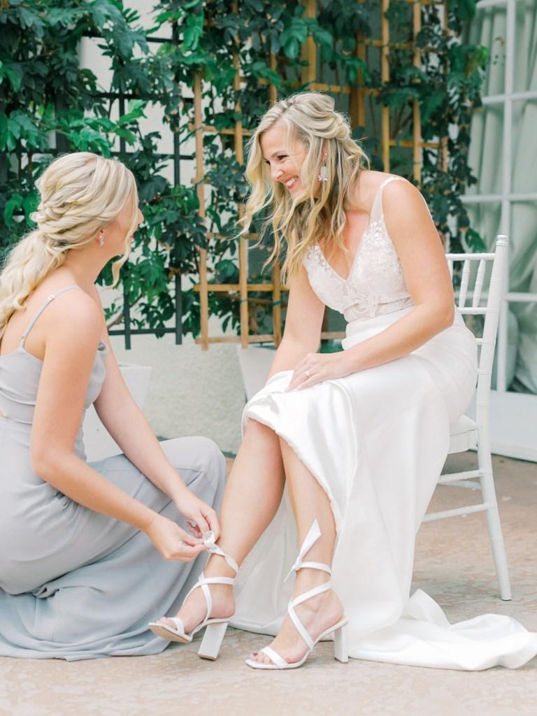 Bridal Shoes At L'Auberge Del Mar San Diego Wedding Venue
