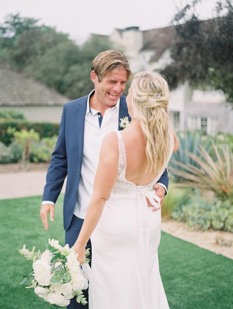 Half Up Bridal Hair Inspiration at L'Auberge Del Mar Wedding In San Diego