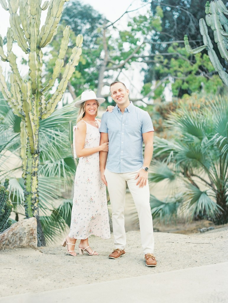Engagement Photos With A Hat Cactus Garden Balboa Park Shot by San Diego Wedding Photographer Mandy Ford