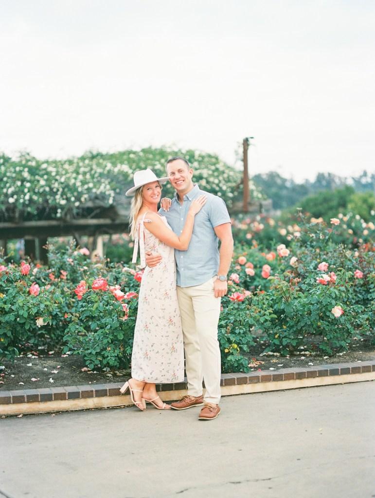 Engagement Photos At San Diego Rose Garden | Balboa Park Photographer