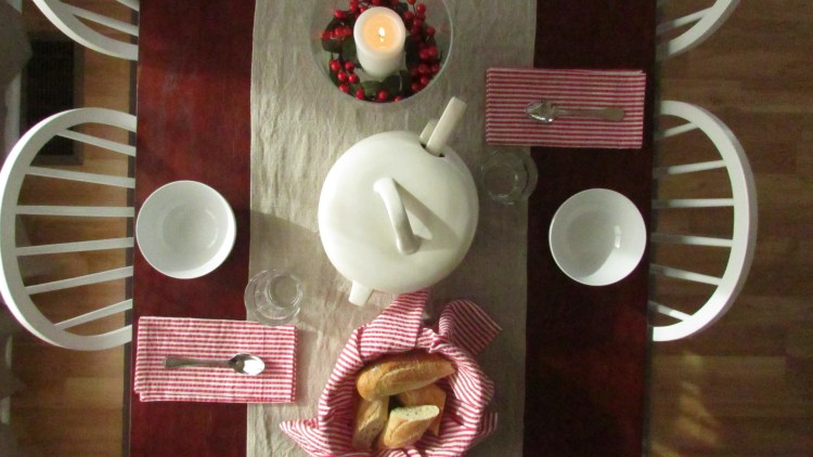 Table set for soup night