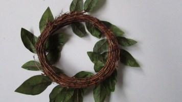 Underside of wreath