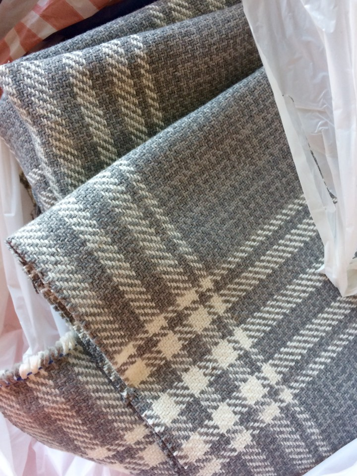 grey plaid upholstery fabric