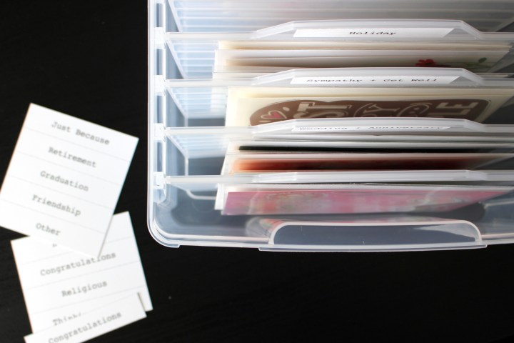 Box for Organizing Greeting Cards