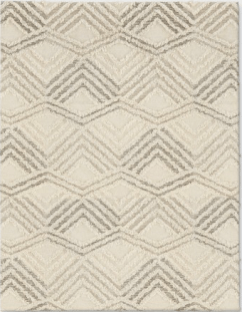 Modern Cream and Gray Area Rug