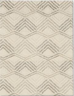 Modern Cream and Gray Area Rug