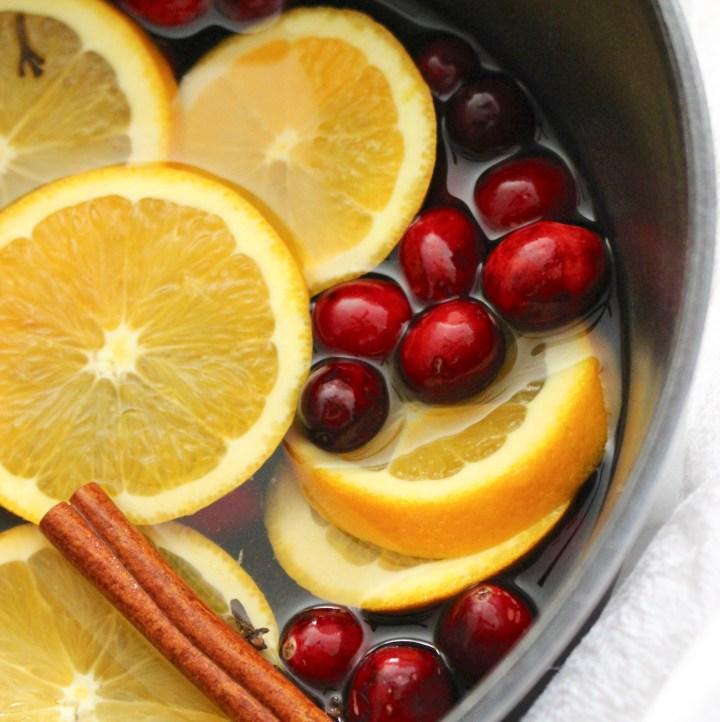 Cinnamon Cranberry and Orange Stove Top Potpourri