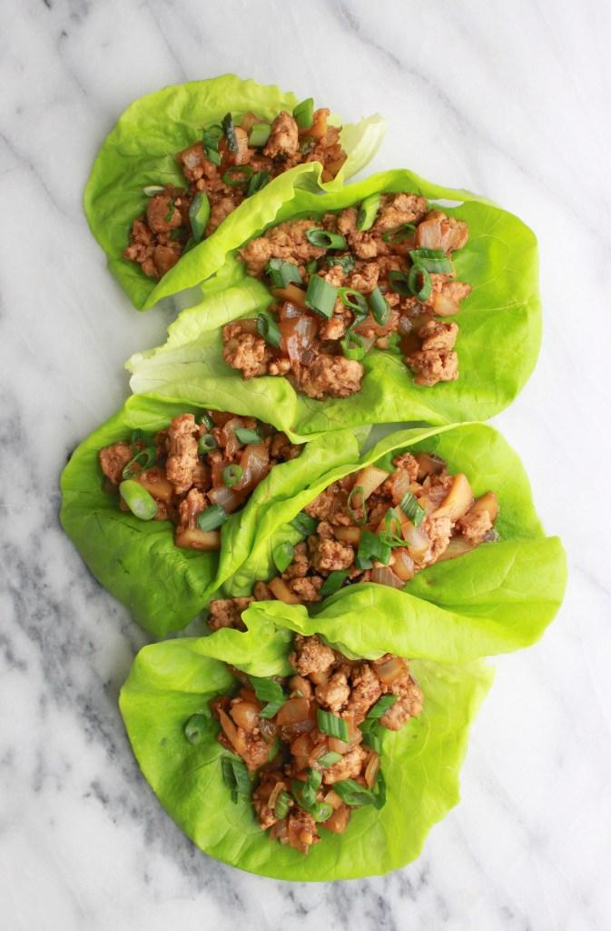 30 Minute Turkey Lettuce Wraps