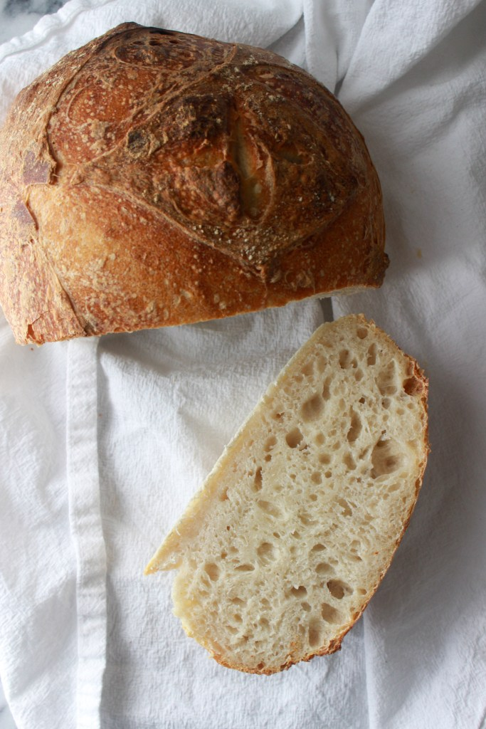 second sourdough loaf crumb