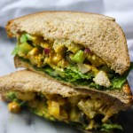 curry chicken salad sandwich on wheat