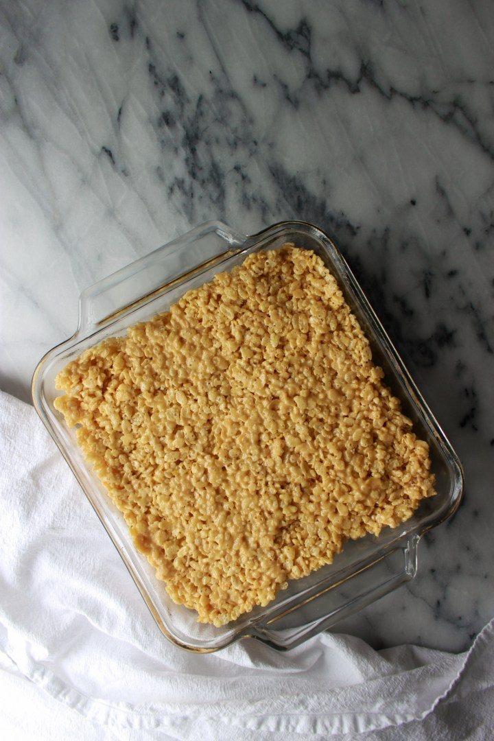 how to get rice crispies flat