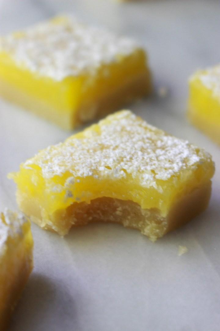 bite out of a lemon square